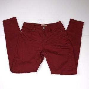 Blue Spice Size 9 Red Slim Skinny Stretch Pants
